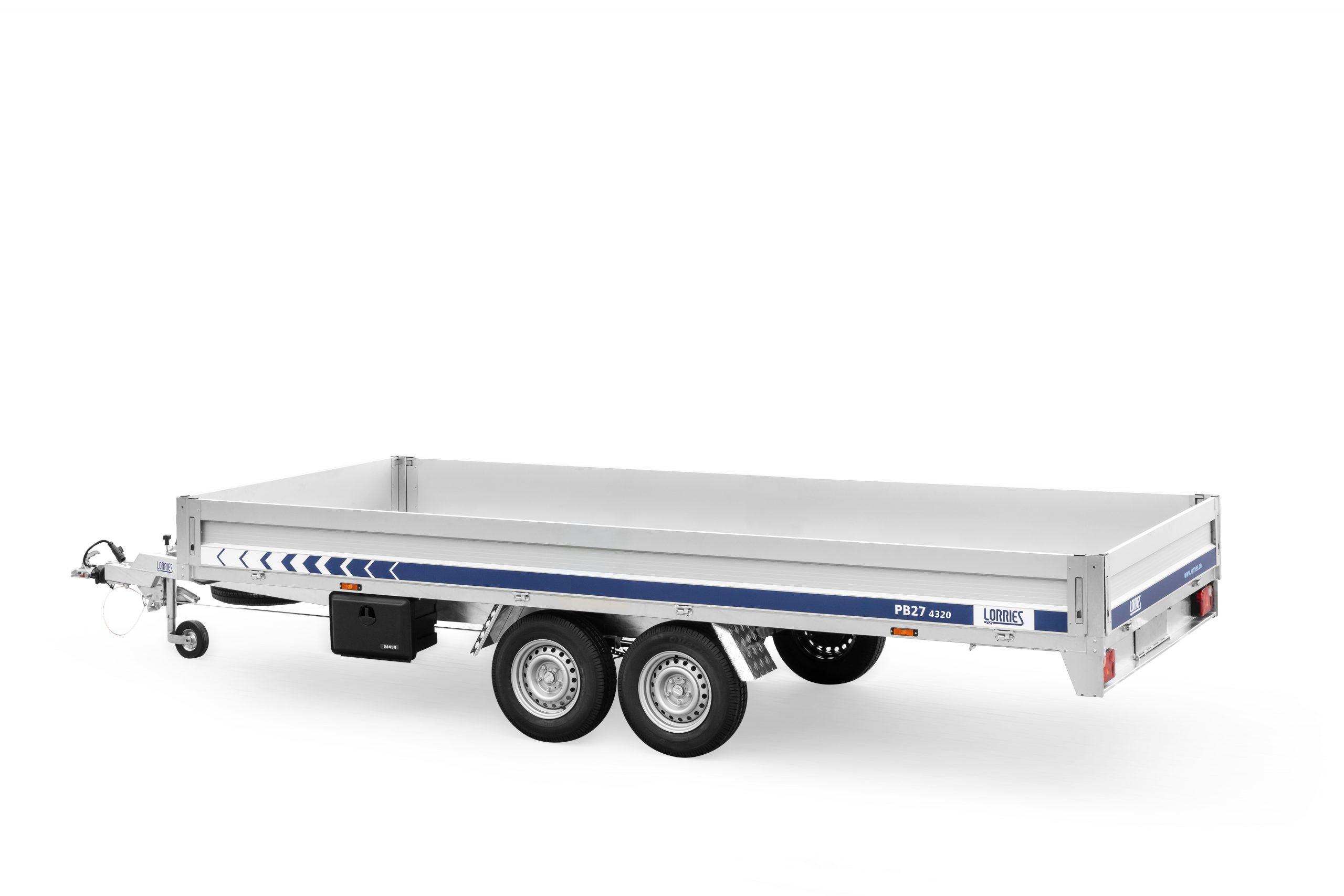 LORRIES przyczepa burtowa do transportu maszyn i towarów ciężkich PB27-4320