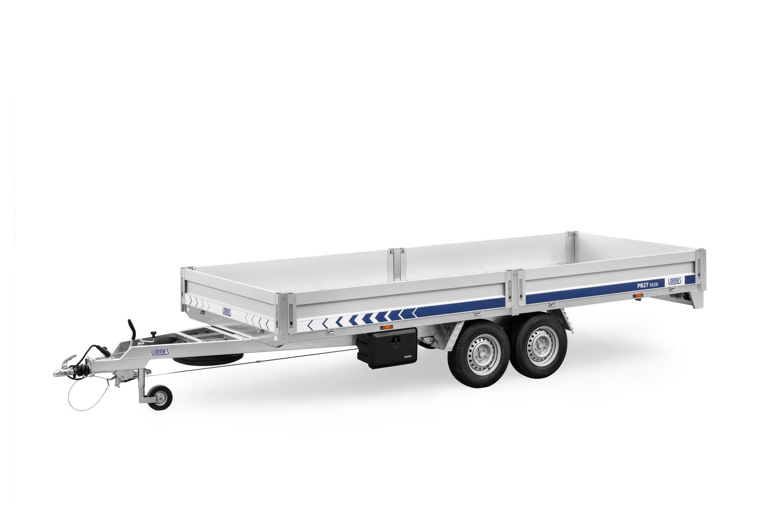 LORRIES przyczepa burtowa do transportu maszyn i towarów ciężkich PB27-5520