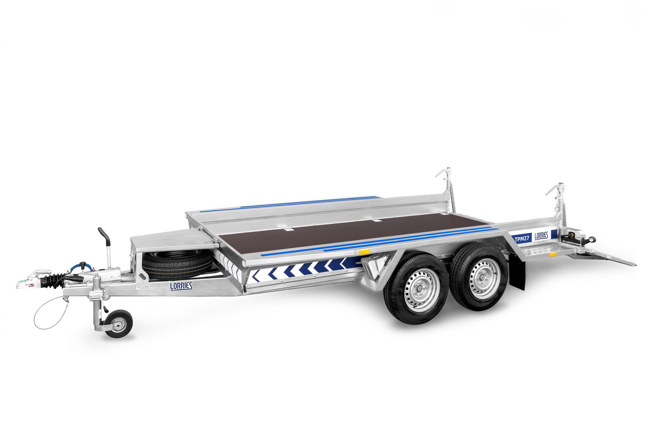 Przyczepa do transportu maszyn budowlanych TPM27